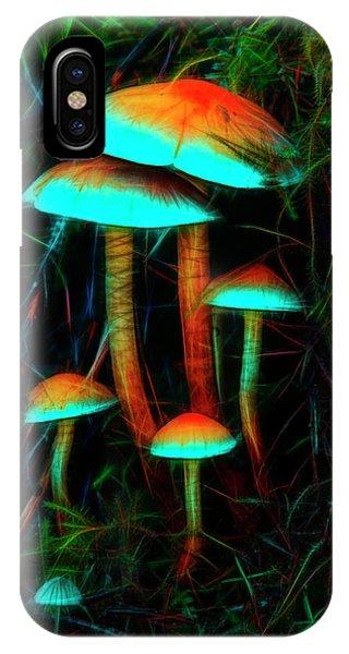 Glowing Mushrooms IPhone Case