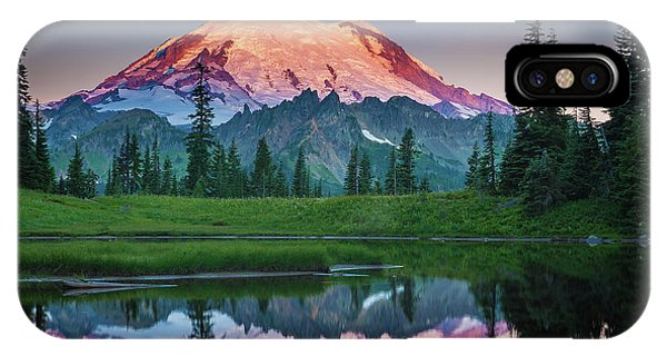 Mountain iPhone Case - Glowing Peak - August by Inge Johnsson