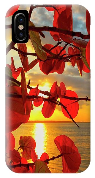 Peaceful iPhone Case - Glowing Red by Stephen Anderson