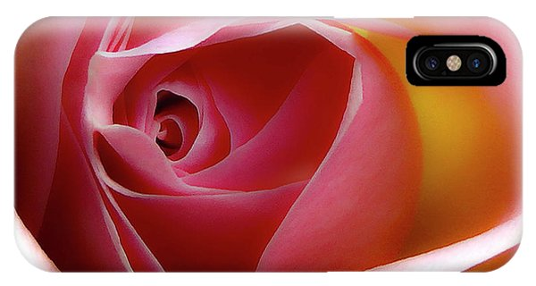 Glowing Rose Hdr IPhone Case