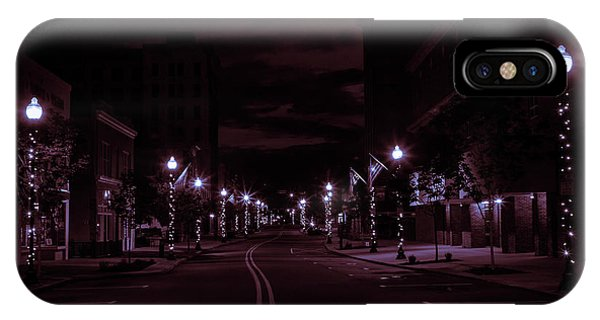 Glowing Streets Downtown IPhone Case