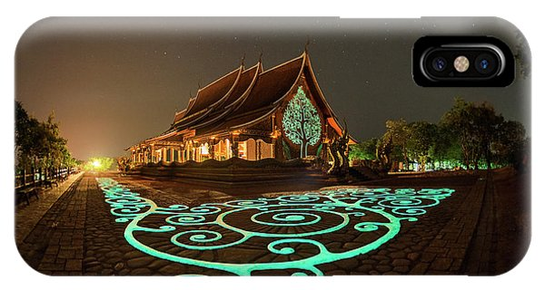 Glowing Wat Sirintorn Wararam Temple, Ubon IPhone Case