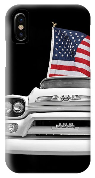 Gmc Pickup With Us Flag IPhone Case