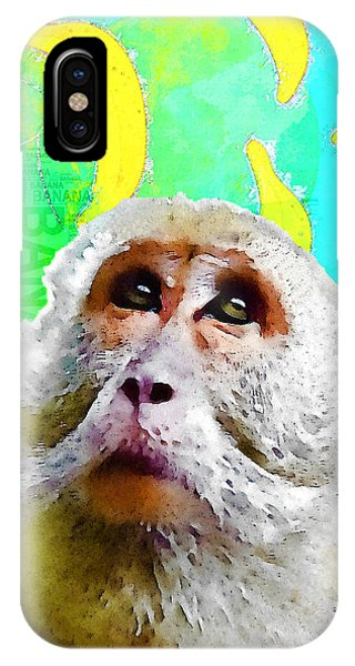 Go Bananas - Blue IPhone Case