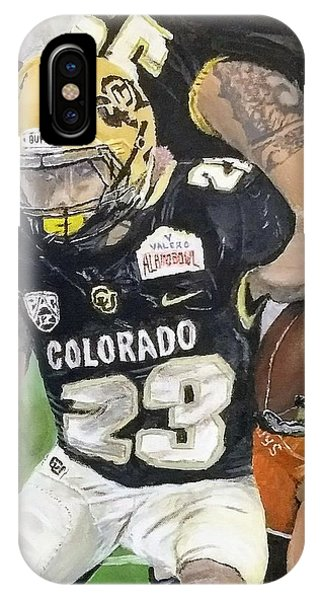 IPhone Case featuring the painting Go Buffs by Kevin Daly