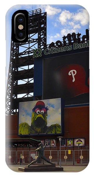 Go Phillies - Citizens Bank Park - Left Field Gate IPhone Case