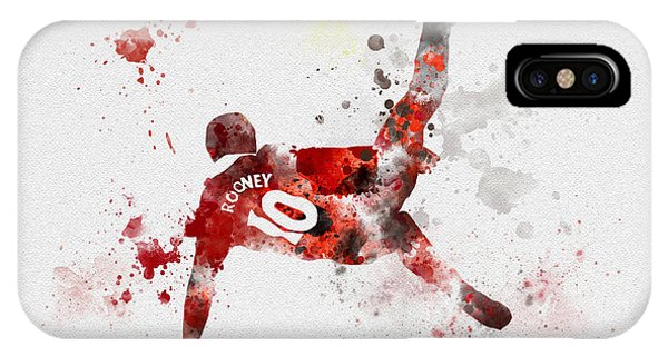 Wayne Rooney iPhone Case - Goal Of The Season by Rebecca Jenkins