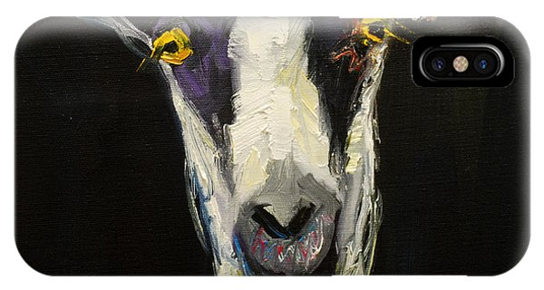 Gallery Wall iPhone Case - Goat Gloat by Diane Whitehead