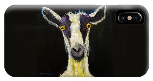 Goat iPhone Case - Goat Gloat by Diane Whitehead