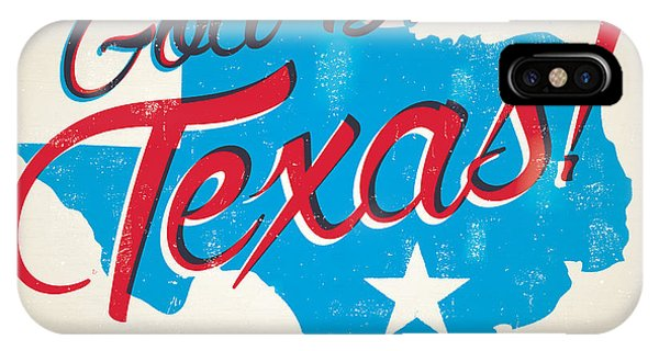 Fort iPhone Case - God Bless Texas by Jim Zahniser