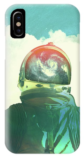Space iPhone Case - God Is An Astronaut by Fran Rodriguez