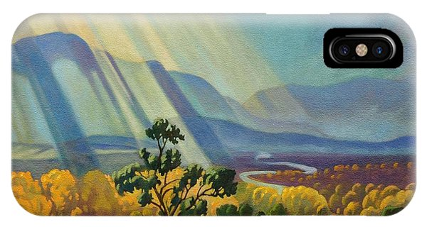 God Rays On A Blue Roof IPhone Case