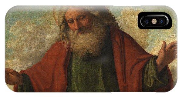 Creation iPhone Case - God The Father by Cima da Conegliano