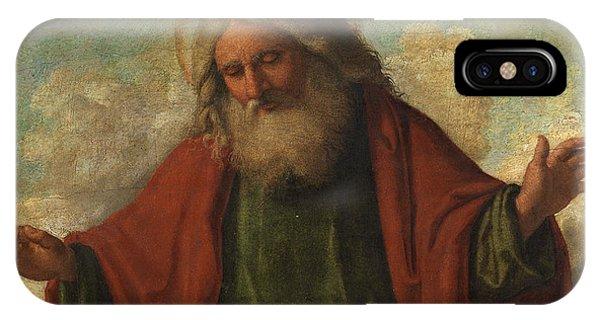 Savior iPhone Case - God The Father by Cima da Conegliano