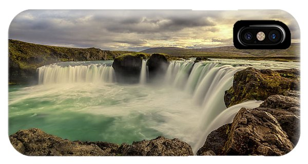 IPhone Case featuring the photograph Godafoss In Late Afternoon by Rikk Flohr