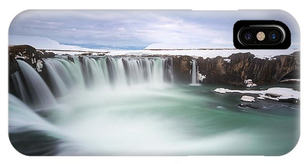 Basalt iPhone Case - Godafoss by Tor-Ivar Naess