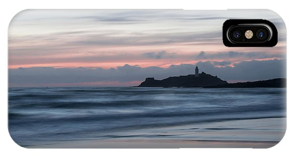 Godrevy Lighthouse From The Beach IPhone Case