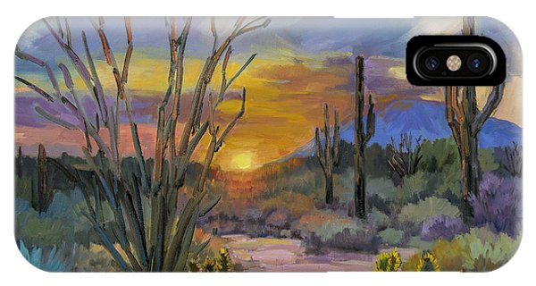 God's Day - Sonoran Desert IPhone Case