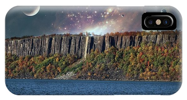 God's Space Over Planet Earth IPhone Case
