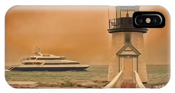 Godspeed At Brant Point Nantucket Island IPhone Case