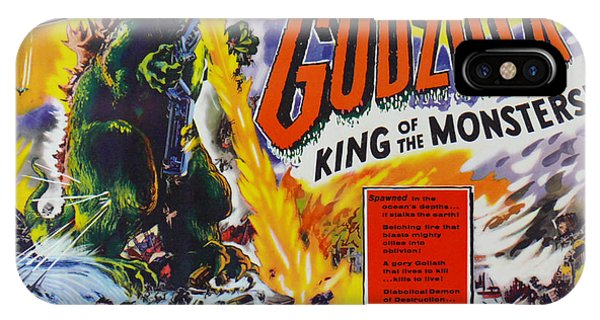 Godzilla King Of The Monsters An Enraged Monster Wipes Out An Entire City Vintage Movie Poster IPhone Case