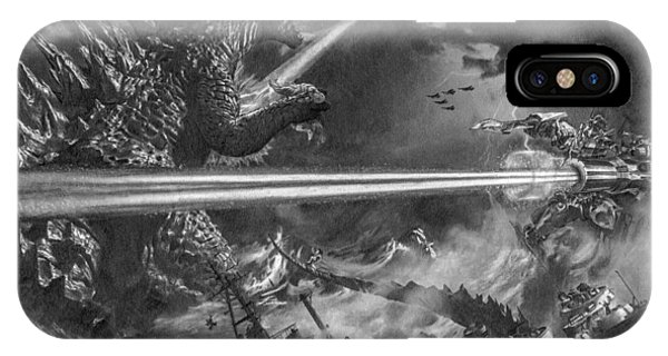 Godzilla Vs. Earth's Mightiest Heroes IPhone Case