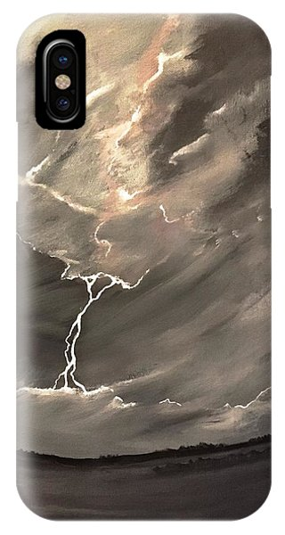 Going Down A Storm IPhone Case