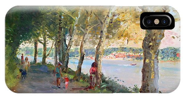 Hudson River iPhone Case - Going For A Stroll by Ylli Haruni