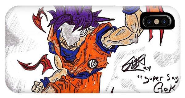 Saiyans iPhone Case - Goku by Seif Seif