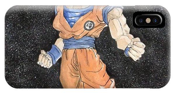 Saiyans iPhone Case - Goku Super Saiyan God  by Manan Sansanwal
