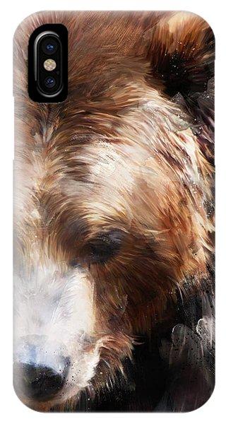 Bear iPhone Case - Bear // Gold by Amy Hamilton