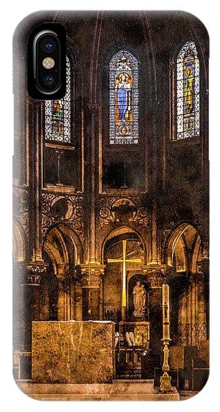 Paris, France - Gold Cross - St Germain Des Pres IPhone Case