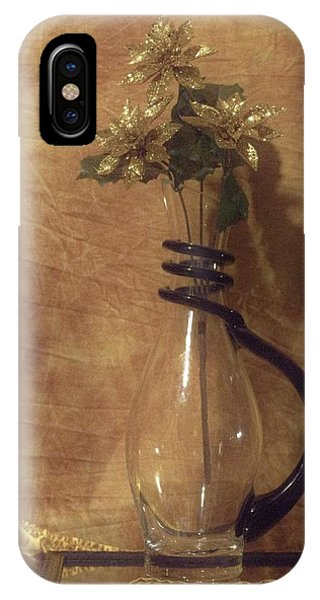 Gold Flower Vase IPhone Case