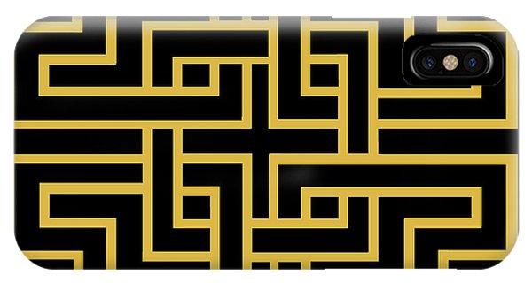 Gold Geo 6 IPhone Case