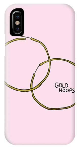 Gold Hoops IPhone Case