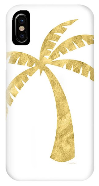 Tree iPhone Case - Gold Palm Tree- Art By Linda Woods by Linda Woods