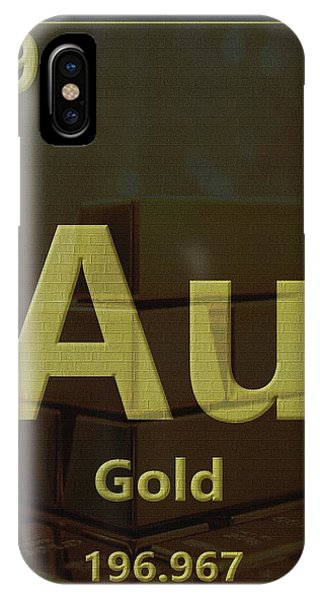 Silver And Gold iPhone Case - Gold Periodic Table by Dan Sproul