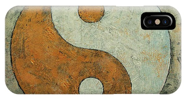 Silver And Gold iPhone Case - Gold Yin Yang by Michael Creese