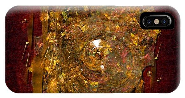 IPhone Case featuring the digital art Golden Abstract by Alexa Szlavics