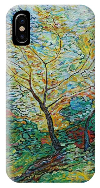 Golden Ash Trees 2 IPhone Case