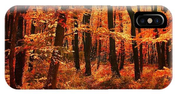Golden Autumn Forest IPhone Case