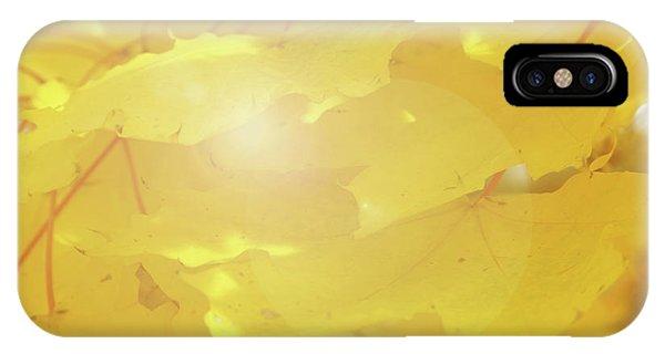 Golden Autumn Leaves IPhone Case