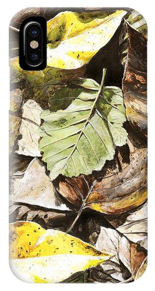 Hyper Realism iPhone Case - Golden Autumn - Talkeetna Leaves by Karen Whitworth