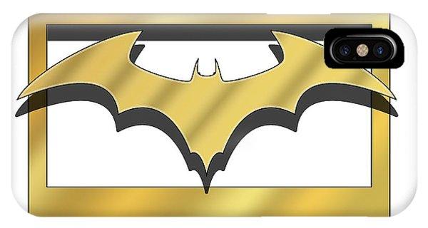 Golden Bat IPhone Case