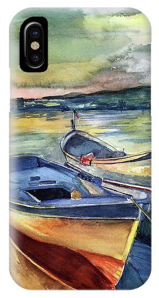 Golden Boats IPhone Case
