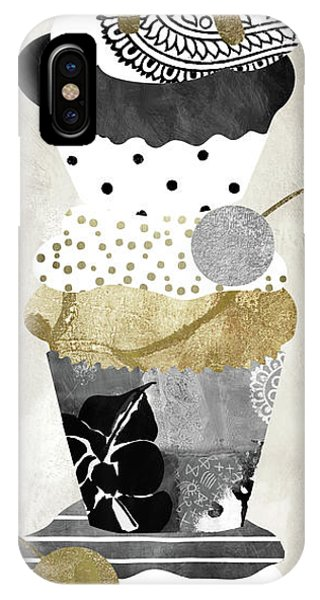 Silver And Gold iPhone Case - Golden Cakes by Mindy Sommers