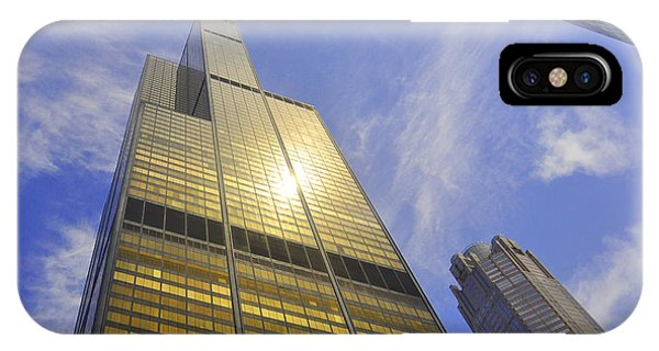 Golden Chicago IPhone Case