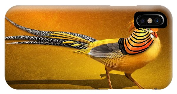 Golden Chinese Pheasant IPhone Case