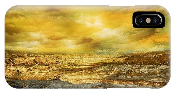 Golden Colors Of Desert IPhone Case
