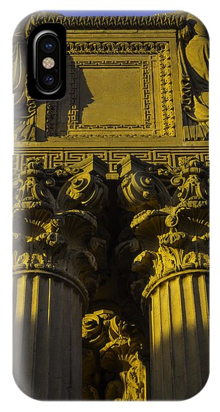 Golden Columns Palace Of Fine Arts IPhone Case